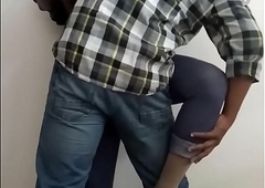 Office Sex - Horny Indian Shemale Slut Manusha exposing on cam with a colleague