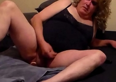 blonde crossdresser anal coition more dildo and cumming