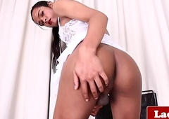 Inked ladyboy milks stay away from until a warm finish