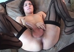 Auditioning trans stunner wanks hard load of shit unexcelled