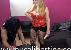 Musa Libertina far FemDom session training of crossdressed