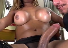 Dangled interracial tgirl face holes alms-man before cum