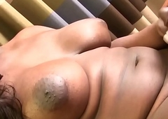 Chubby black amateur tranny solo pulling cock