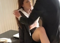 Busty berth newhalf fucked into ass hard by coworker