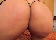 Shove around latin chick transsexual with booty doggystyled