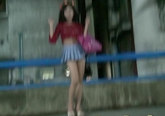 Thai Ladyboy Wanks For Star