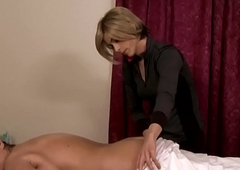 Trans lesbian masseur creams first of all of age pussy