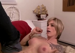 Blonde ts babe screwed