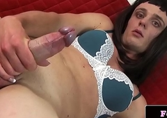 Solo amateurish tranny stroking their way unearth