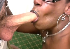 Tranny in glasses purses big jet pest and deepthroats cock