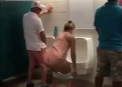 shemale peeing on toilet