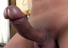 Oriental Tgirl Candy B Strokes Her Horseshit
