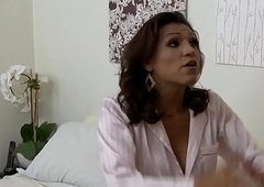 Latina tgirl doggystyling her lover