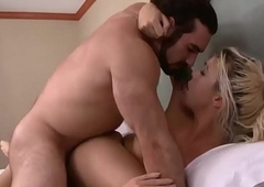 Jaxton and sexy blonde tranny Aubrey Kate love anal drilling