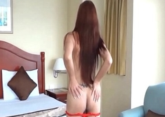 Amateur Oriental TS Filipina Get Fucked Without a condom