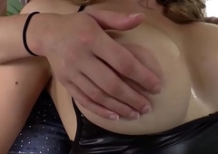 Busty tranny cockridden at the end of one's tether babe