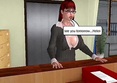 3D secretary mollycoddle getting fucked hard by a shemale