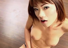 Ladyboy Bee Masturbates Off and Jizzes