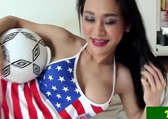 Soccer playing ladyman Emma pov blowjob