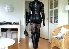 Sissy Ready in X-rated Leather 01