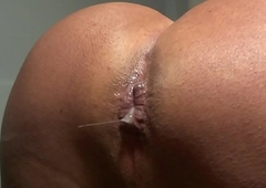 Shemale peeing sperm botheration a Portuguese male well-endowed heavy penis