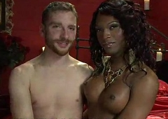 Black tranny sucks small white dick to bound scars guy